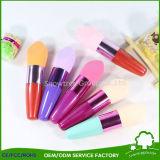 Fundação creme compõem escovas de maquiagem cosméticos esponja de líquido com a pega da escova