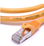 Cable de Ethernet flexible blindado de la corrección de la red del gato 6