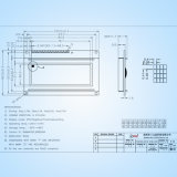 Gráfico de mazorca DOT Matrix Pantalla LCD con retroiluminación blanca