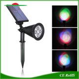 外部太陽動力を与えられたLEDの点ライト庭ランプの防水スポットライト