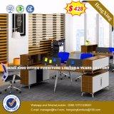 Personnel en bois L poste de travail de forme (UL-MFC488) de meubles de bureau de forces de défense principale