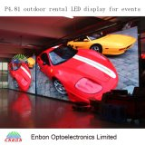 High Resolution P4.81 Outdoor/Indoor LED Screen Display with 500X1000mm Die Casting Panel