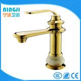 Color dorado con una sola palanca baño Grifo de latón
