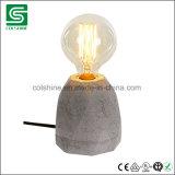 다락 작풍 시멘트 테이블 램프 포도 수확 내부를 위한 구체적인 가벼운 책상용 램프