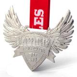 Médaille personnalisée directe de sport de nickel plaquée par 3D d'usine
