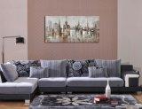 Pitture a olio astratte di paesaggio della città su tela di canapa per la decorazione domestica