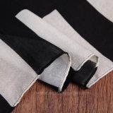 Écharpe épaisse de mode de polyester d'impression noire de Geometic (HT04)