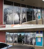 OEM personalizadas de diseño gráfico de la ventana de barata película perforada Stick de vidrio de visión unidireccional