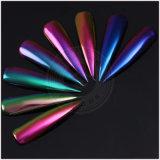 El polvo mágico del efecto del espejo del cromo, gel del desplazamiento del color del camaleón clava los pigmentos