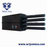 Poder superior portátil com o jammer do telefone de pilha do ventilador (wimax) 3G 4G da DCS PCS 3G 4G de CDMA G/M