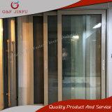 Puerta deslizante de cristal de Champán del doble de aluminio de gama alta del perfil