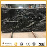 Nuevo natural / piedra de granito negro, Nero Fantasy granito para la planta y encimera de cocina