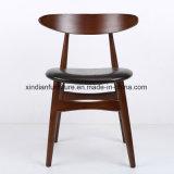 Cadeira de madeira nórdica do frame de aço fixo do ferro