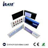 Tarjeta de felicitación video publicitaria promocional caliente del LCD, folleto video con diversas tallas