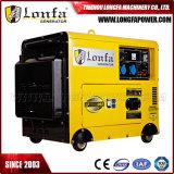 type silencieux diesel refroidi à l'air générateur de 5.5kVA 6kw pour l'usage à la maison