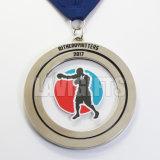 Médaille commémorative neuve de sport et médaille argentée de cuvette de trophée en métal