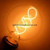 Bulbo espiral caliente de la luz G80 del filamento del tungsteno electrónico suave del claro