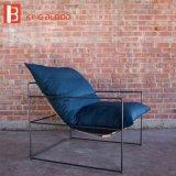 Spitzensamt-entspannender Schwenker-Entwerfer-Sofa-Stuhl im goldenen Edelstahl-Bein