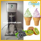 De commerciële Gebruikte Machine van het Roomijs van de Werveling van het Fruit met de Kop van het Roestvrij staal en Plastic Kop