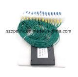 PLC van de Telecommunicatie van Gpon van de Kabel van de vezel Optische 2X64 Splitser met Schakelaar