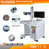 Pendiente, máquina plástica 20W de la marca del laser de la fibra