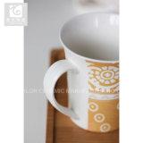 10 12 14oz 세라믹 커피잔 가득 차있는 전사술 인쇄