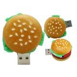 Borracha personalizada de logotipo de Memória Flash USB Sushi Banana hambúrguer de unidades flash USB