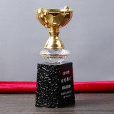 Чашка золота металла Jingyage с черным низкопробным кристаллом пожалования подарков сувенира
