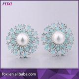 China Wholesale de Zirconia Bisutería Pendientes de perlas para las mujeres