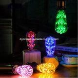 창조적인 가정 장식 ST64 3W 다중 색깔 별이 빛나는 밤 전구