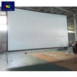 X-YスクリーンHDの背面映写のフィルムのアルミニウムケースが付いている速いフォールドスクリーン
