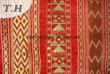 Buen sofá festivo rojo grande de la tela del telar jacquar del Chenille (FTH31717)