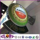 Caixa leve acrílica do diodo emissor de luz Thermoforming para o banco e as lojas Chain