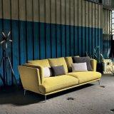 Sofá amarelo da tela com 3 assentos (F720-6)