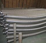 Boyau ridé/canalisation/beuglement de métal flexible d'acier inoxydable avec le tressage