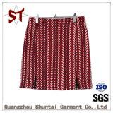 A nova saia curta pregas vestido de Verão