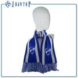 Commerce de gros motif tricoté flocon de neige écharpe châle avec étiquette d'impression