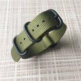 band van het Horloge van het Leger van 1.5mm de Dikke Groene Nylon Zoeloes