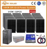 10kw off-grid Sistema de Energia solar para a Energia Solar Residencial sistema PV