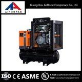 Compressor de ar de parafuso com tanque e do secador