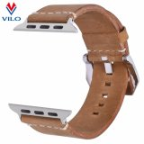 Courroie de bracelet de montre de Brown pour la bande en cuir de rechange d'Apple Iwatch