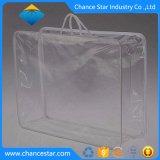 El embalaje personalizado PVC transparente de la bolsa de cremallera con tirador