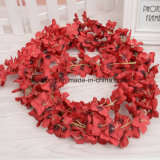 벽 커튼 등나무 훈장 꽃 덩굴 인공적인 등나무 꽃