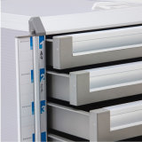 Casellario d'argento del metallo dei cassetti di colore 4 con la barra dell'appunto