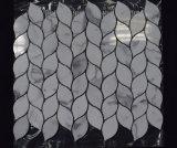 신제품 잎 패턴 대리석 돌 Calacatta 백색 모자이크