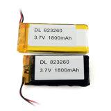 Lipo 3.7V 823260 nachladbare Ionenplastik-Batterie des Lithium-1800mAh für GPS-Verfolger