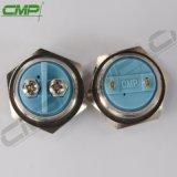 CMP 16mm 2 broches 1 pas de placage de cuivre ou en acier inoxydable Anti-Vandal Interrupteur momentané