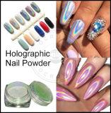 Голографическая лак для ногтей порошок, голографической Блестящие цветные лаки, лазерный голографических Chrome пигмента