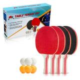 Raqueta de Tenis de mesa y la bola con el cuadro de Color