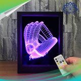 Moldura fotográfica 3D Controle Remoto de lâmpada 7 LED de luz da noite para troca de cores de luz a ilusão de gradiente